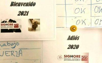 Adiós y buen viaje 2020,  DESDE SIGHORE-ICS TE DAMOS LA BIENVENIDA 2021.